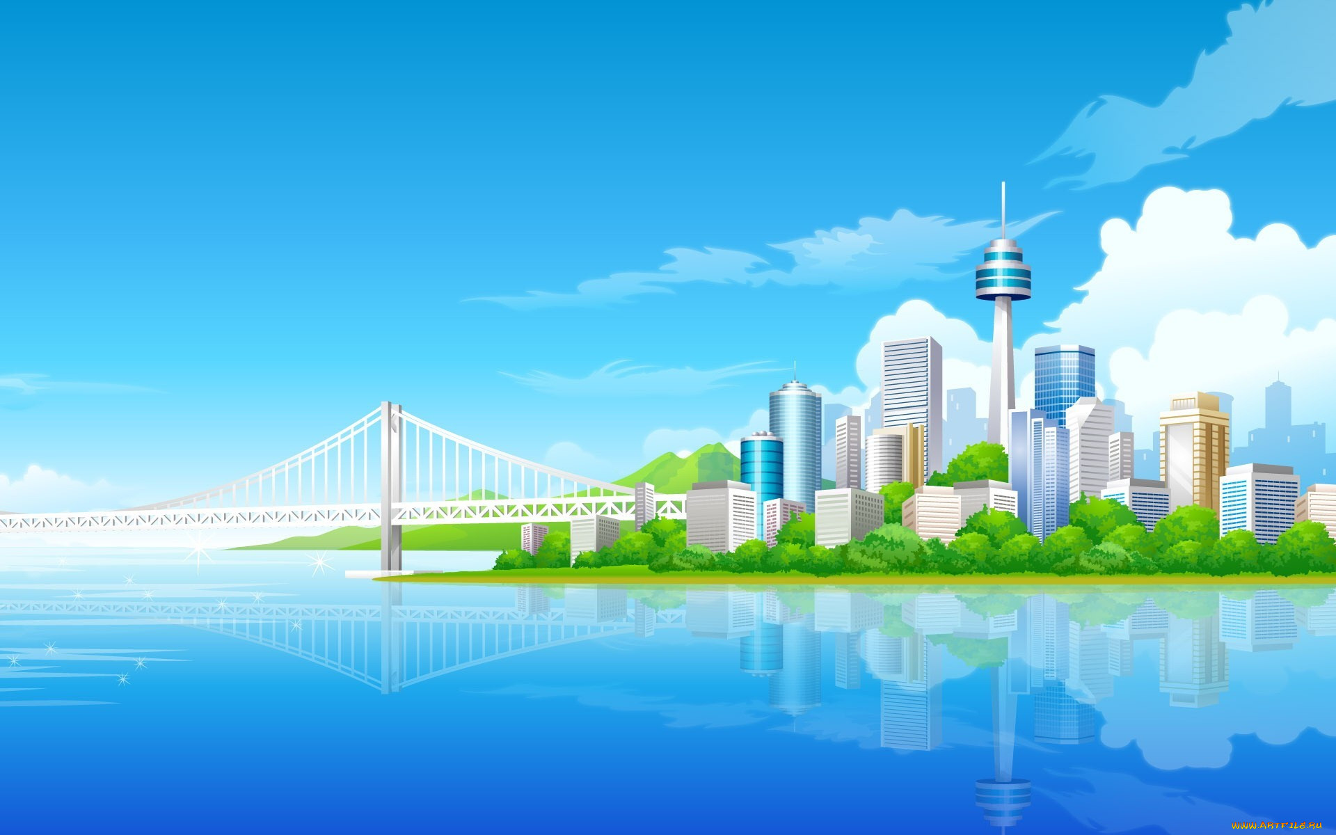 Векторные картинки мой город